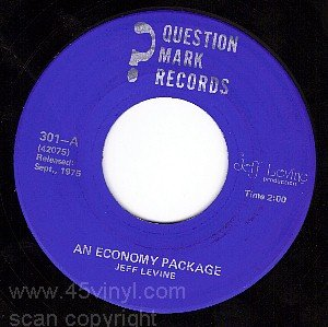 QUESTION MARK 301 JEFF LEVINE An Economy Package/Bored