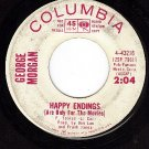PROMO COLUMBIA 43216 GEORGE MORGAN Happy Endings ~ Dear