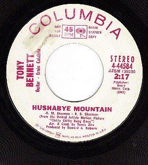 PROMO 45 COLUMBIA 44584 TONY BENNETT Hushabye Mountain