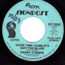 NM PROMO SIGNPOST 70006 DANNY O'KEEFE Charlie Got Blues