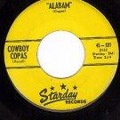 STARDAY 501 45 rpm COWBOY COPAS ~ Alabam ~ I Can