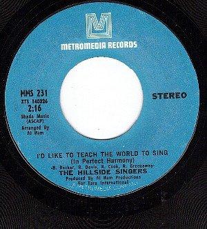 METROMEDIA 231 HILLSIDE SINGERS ~ I'd Like To Teach The