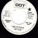 PROMO 45 DOT 17449 ROY CLARK ~ Come Live With Me