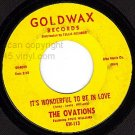 GOLDWAX 113 OVATIONS Its Wonderful To Be In Love/Dance