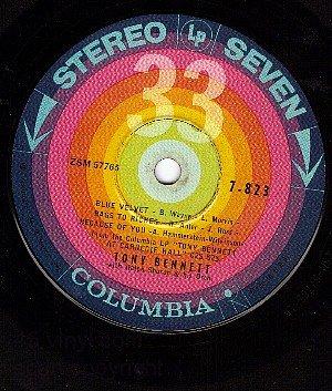 COLUMBIA 7-823 TONY BENNETT Blue Velvet/Rags To Riches