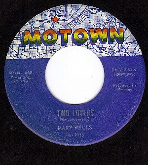MOTWON 1035 45 rpm MARY WELLS ~ Two Lovers ~ Operator