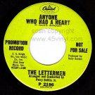 PROMO 45 P2196 THE LETTERMEN Anyone Who Had A Heart