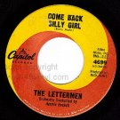 NM CAPITOL 4699 THE LETTERMEN Come Back Silly Girl/Song