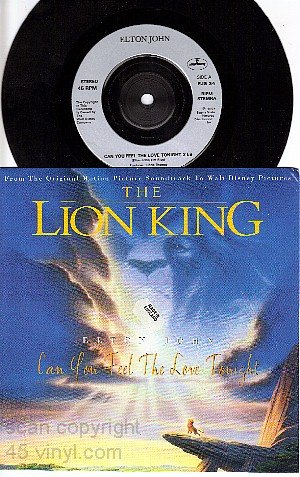NM UK MERCURY 34 ELTON JOHN LION KING Feel Love Tonight