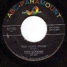 ABC 10085 45 STEVE LAWRENCE You Don't Know ~ Footsteps