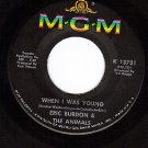 MGM 13721 THE ANIMALS/ERIC BURDON When I Was Young/Girl