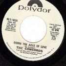 NM 45 PROMO 2-14036 THE CONCORDS I Feel A Love Comin On