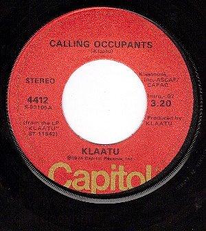 CAPITOL 4412 KLAATU Calling Occupants ~ Sub Rosa Subway