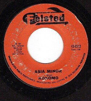 FELSTED 8512 45 rpm KOKOMO Asia Minor ~ Roy's Tune