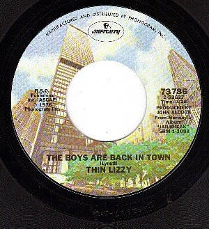 MERCURY 73786 THIN LIZZY The Boys Are Back In Town/Jail
