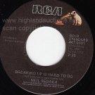 M- RCA 45 NEIL SEDAKA Breaking Up Is Hard To Do ~ Angel