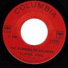 COLUMBIA 4-42581 CLAUDE KING Burning Of Atlanta ~ Moon