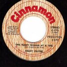 PROMO 45 CINNAMON 772 JIMMY PAYNE One Man's Woman At A