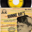 NM PS + 45 EPIC EG-7021 JOHNNIE RAY GREATEST - 4 Tracks