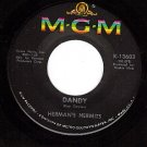 MGM 13603 HERMANS HERMITS Dandy/Reservations Confirmed