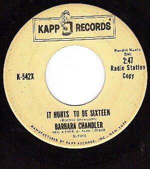 KAPP 542 DJ BARBARA CHANDLER Hurts To Be Sixteen/Johnny