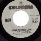 NM COLUMBIA 33063 DION Donna The Prima Donna/Ruby Baby