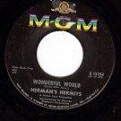 MGM 13354 HERMAN'S HERMITS Wonderful World ~ Traveling