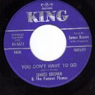 NM KING 5672 JAMES BROWN/FLAMES You Dont Have To/Mashed