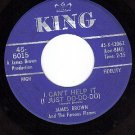 KING 6015 JAMES BROWN/FLAMES I Cant Help It ~ I Got You