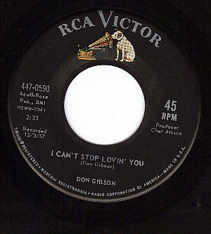 RCA 447-0590 DON GIBSON I Cant Stop Lovin You/Just One