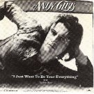 PICTURE SLEEVE RSO 872 ANDY GIBB ~ Just Want To Be Your