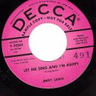 PROMO DECCA 30263 JERRY LEWIS Let Me Sing And I'm Happy