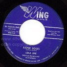 WING 90015 LOLA DEE Paper Roses/Only You And You Alone