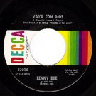 DECCA LENNY DEE 33026 Vaya Con Dios/All I Ever Need Is