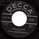 DECCA EP 45 LENNY DEE 2268 This Ole House Pt 3 & 4