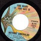WESTBOUND DETROIT EMERALDS You Want It You Got It/Home