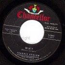 CHANCELLOR 1045 FRANKIE AVALON Why/Swingin On A Rainbow