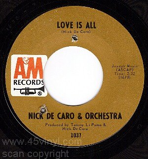 AM 45 NICK DE CARO & ORCHESTRA 1037 Love Is All ~ Heart