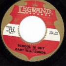 LEGRAND 1009 GARY U.S.BONDS School Is Out/Million Tears