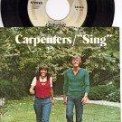 AM 1413 45 + PS CARPENTERS ~ Sing ~ Druscilla Penny
