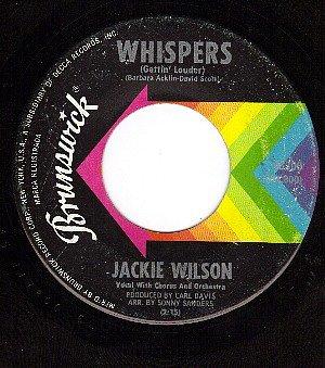 BRUNSWICK 55300 JACKIE WILSON Whispers ~ Fairest Of All