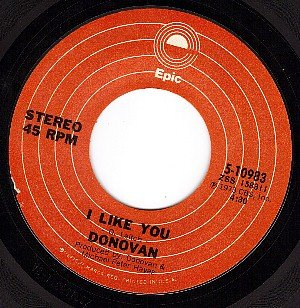 NM EPIC 45 10983 DONOVAN I Like You ~ Earth Sign Man