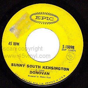 EPIC 10098 45 DONOVAN Mellow Yellow ~ South Kensington