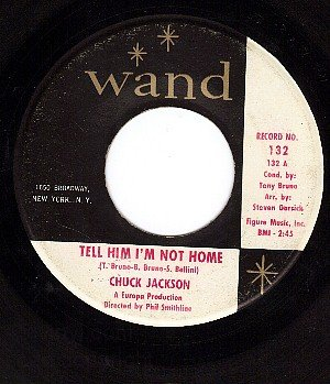 WAND 132 CHUCK JACKSON Tell Him I'm Not Home/Lonely Am