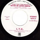 PROMO AM 1974 L.T.D. Back In Love Again (Stereo & Mono)