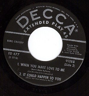 NM DECCA EP 91288 BING CROSBY Love To Me/Be True/Dear