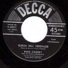 DECCA 9-28511 BING CROSBY Sleigh Bell Serenade ~ Secret