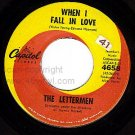 NM 45 PS+ REC 4658 THE LETTERMEN When I Fall In Love