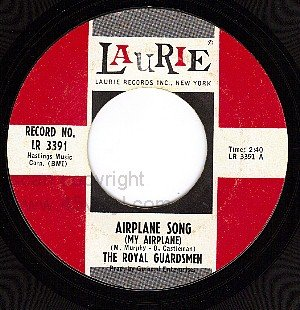 LAURIE 3391 THE ROYAL GUARDSMEN Airplane Song/OM