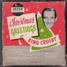DECCA 9-66 3 45 Bing Crosby CHRISTMAS GREETINGS BOX SET